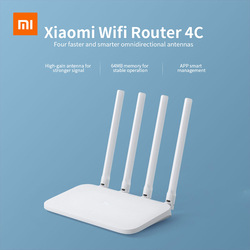 Originale Xiao mi mi WIFI Router 4C 64 RAM 300Mbps 2.4G 802.11 b/g/n 4 antenne Band Wireless Router WiFi Ripetitore di Controllo APP