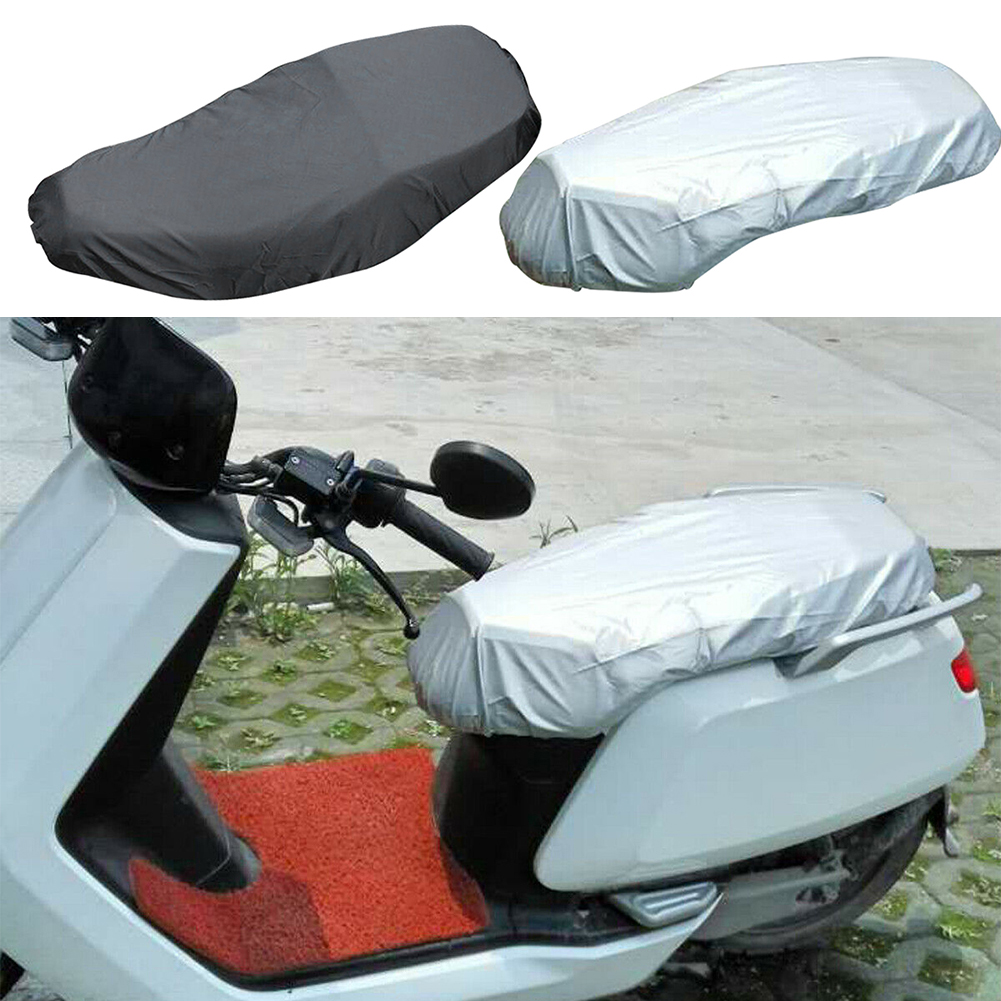 Oxford Cloth Outdoor Waterproof Insulation Motorcycle Scooter Durable Anti Snow Seat Cover Rain Gear Universal Easy Install title=