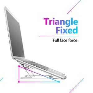 Image 2 - 5 biegów regulowany aluminiowy składany stojak na laptopa pulpit uchwyt na notebooka biurko stojak na laptopa na 7 15 calowy Macbook Pro Air