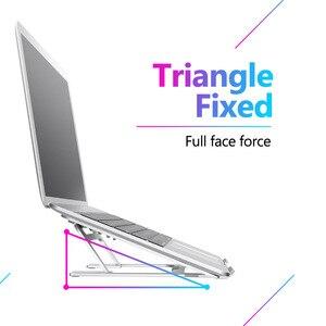 Image 2 - 5 dişli ayarlanabilir alüminyum katlanabilir dizüstü standı masaüstü dizüstü tutucu masası dizüstü standı 7 15 inç Macbook Pro hava