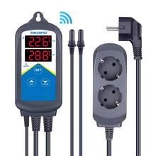 Inkbird-contrôleur de température Wi-Fi 306A, prise ue, Double prise pour Aquarium, réservoir d'eau avec sonde Double