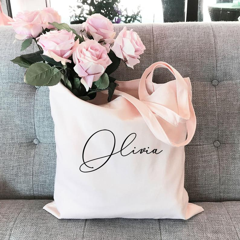 Bachelorette Party Favors Bags - Bachelorette Tote Bags Canvas Tote Bag Personalized Tote Bag Bridesmaid Tote Bag Custom Name