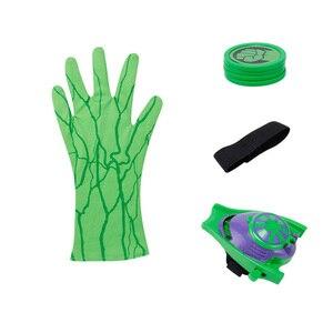 Image 3 - 2019 חדש חתיכה אחת אנימה איור Pvc סופר גיבורי Zings קוספליי עכביש כפפות Laucher יד משגרי ילדים צעצועים לילדים בני