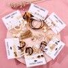 17KM Vintage Tassel Acrylic Earrings For Women Bohemian Earrings Set Big Dangle Drop Earring 2020 Brincos Female Fashion Jewelry 1