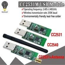 Kablosuz Zigbee CC2531 CC2540 Sniffer çıplak kurulu paket protokolü analiz modülü USB arayüzü Dongle yakalama paket modülü