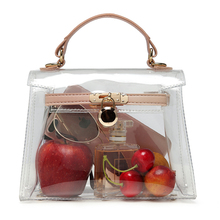 купить Transparent candy jelly bag women's handbag shoulder bag small clear messenger ladies pvc crossbody bags онлайн