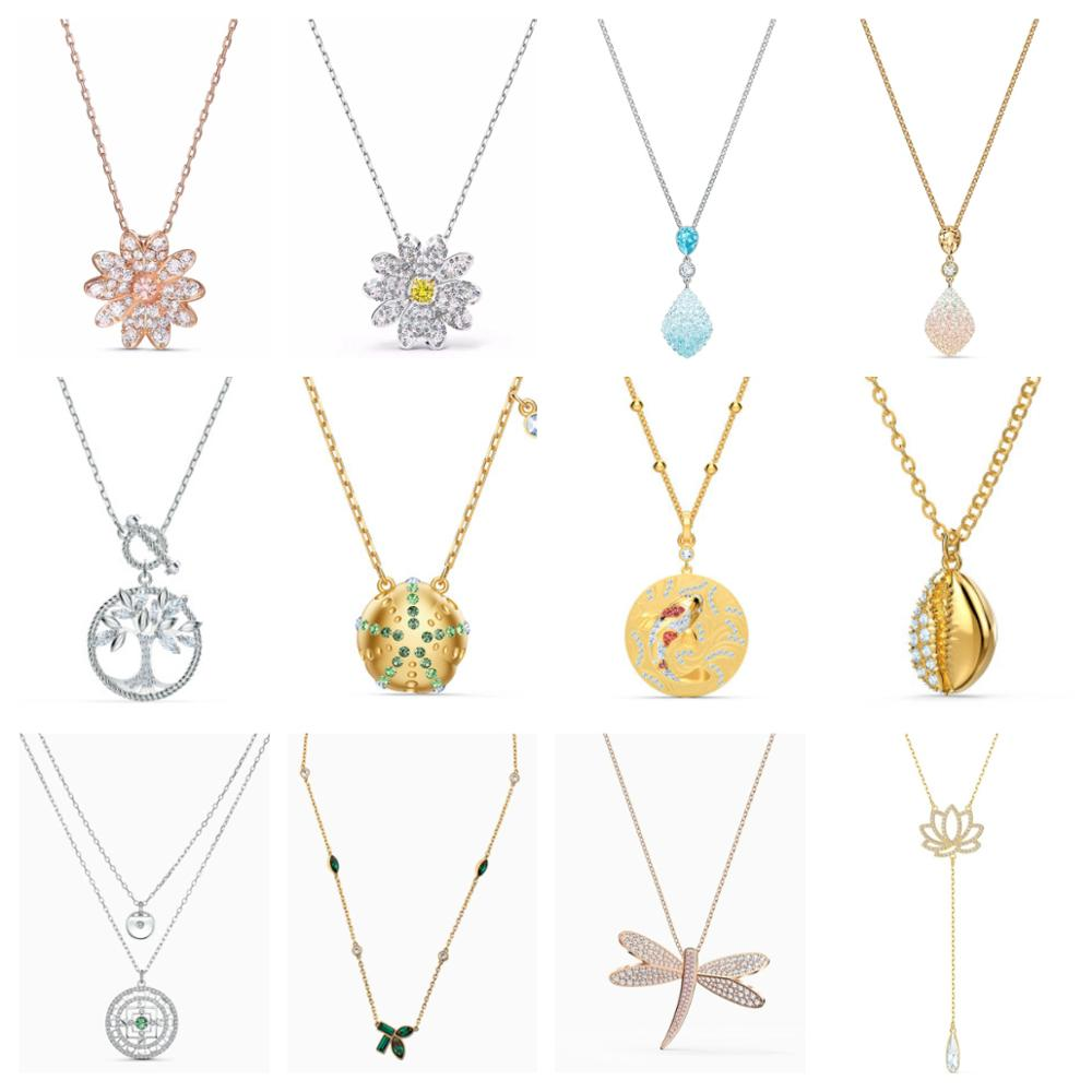 High Quality Original SWA Necklace With Original Engraving 2020 New Jewelry Gift For Women Luxury Jewelry Free Shipping