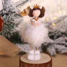 Рождественский кулон милый флис Ангел Кукла Настольный оконный орнамент подвесной Декор NSV775
