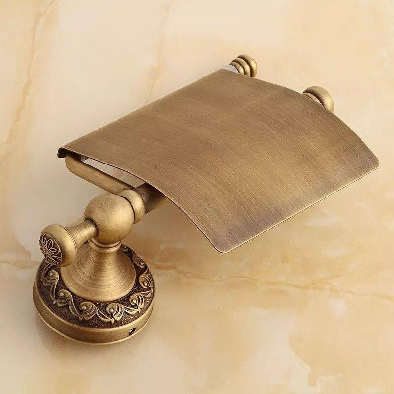 Антиквариат латунь бумага полотенце вешалка европа стиль ванная бумага держатель европейский туалет бумага держатель