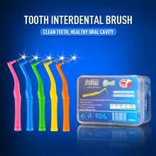 20/2 pces ângulo interdental escovas l em forma de fio dental interdental cleaner ortodôntico escova de dentes palito ferramenta de cuidados orais