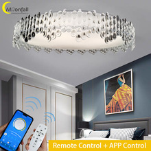 Moonfall-LED Ceiling light RGB lamp Modern Simple style light with star Lamps for Living room Bedroom Kitchen Dining room36W 72W