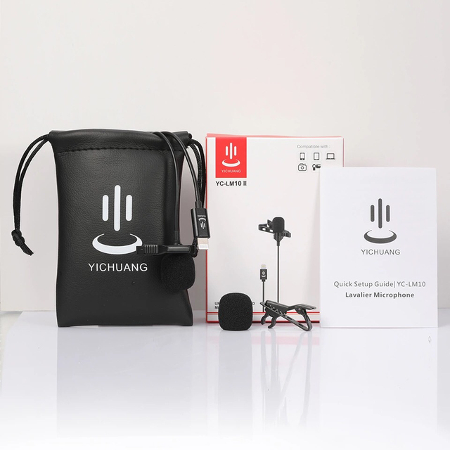 YC-LM10 II Mini Portable Microphone Condenser Clip-on Lapel Lavalier Mic Wired Mikrofo/Microfon for iPhone X 8 7 CANON YC-LM10 Uncategorized