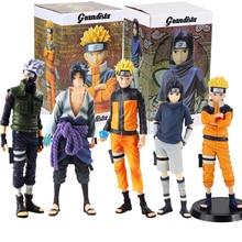 Figuras de Naruto, Uzumaki, Naruto, Uchiha Sasuke, Hatake, Kakashi, Grandista, juguetes de modelos coleccionables