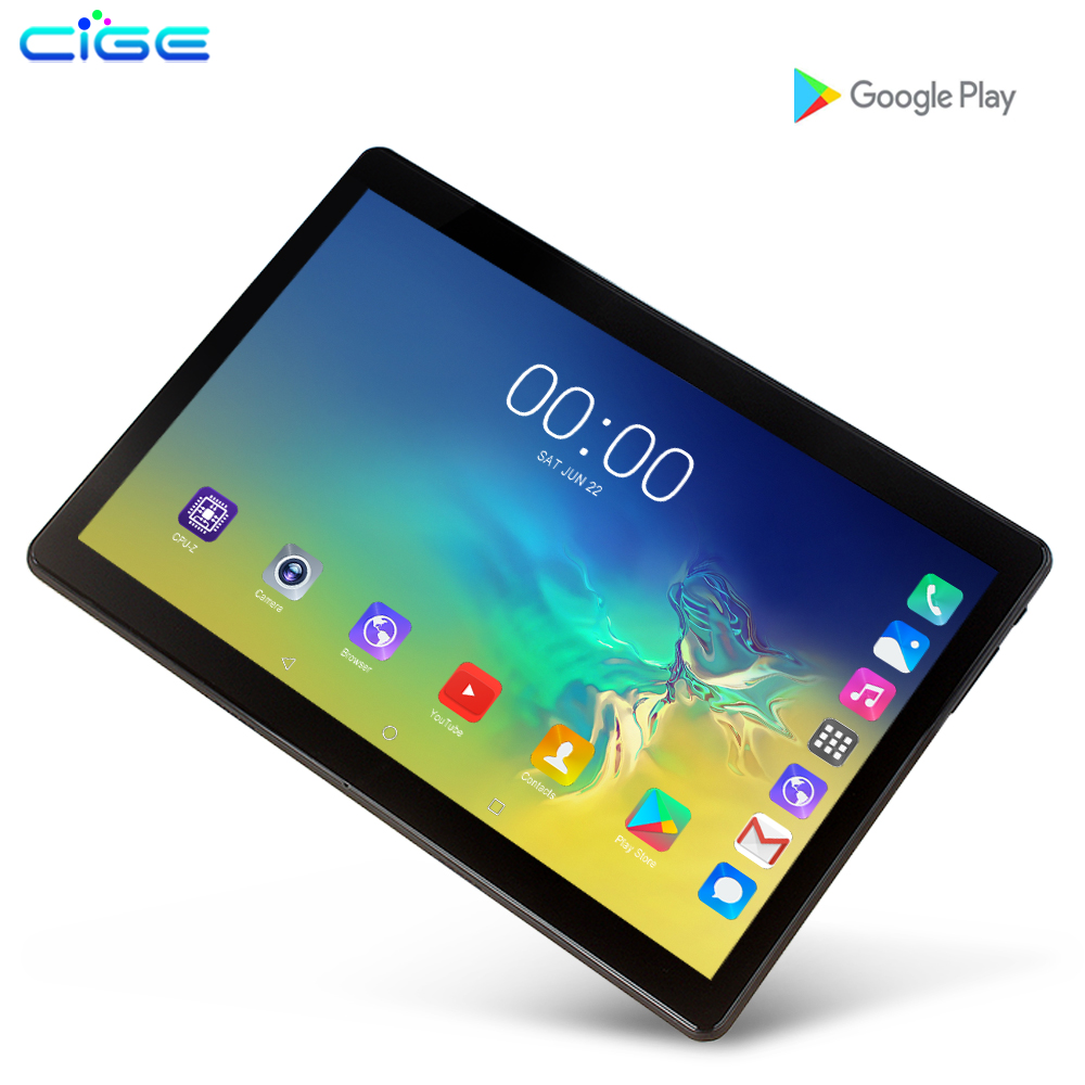 CIGE 10.1 Inch Tablet Pc 4G Lte Phone Call Android 9.0 Octa Core RAM 6GB 128GB ROM Brand Dual SIM Card WiFi GPS Tablets