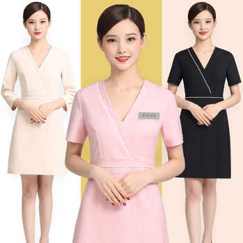Beauty salon cosmetologist work dress summer short temperament high-end fashion professional clothing - DISCOUNT ITEM  15 OFF All Category