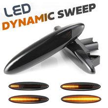 2 шт светодиодный динамический Боковой габаритный фонарь поворота