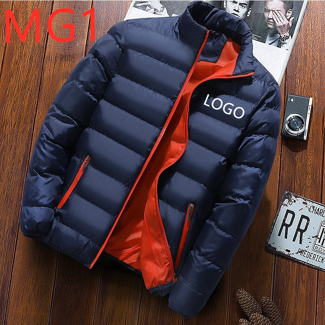 MG1 Man Hip Hop Warm Punk Comfortable Jacket Men Popular Coat Standing collar Slim Down Male Cotton Zipper Gothic Slim Outwear cheap Thick (Winter) Casual Full Solid Broadcloth None Pockets Zippers Linen Stretch Spandex REGULAR White goose down Microfiber