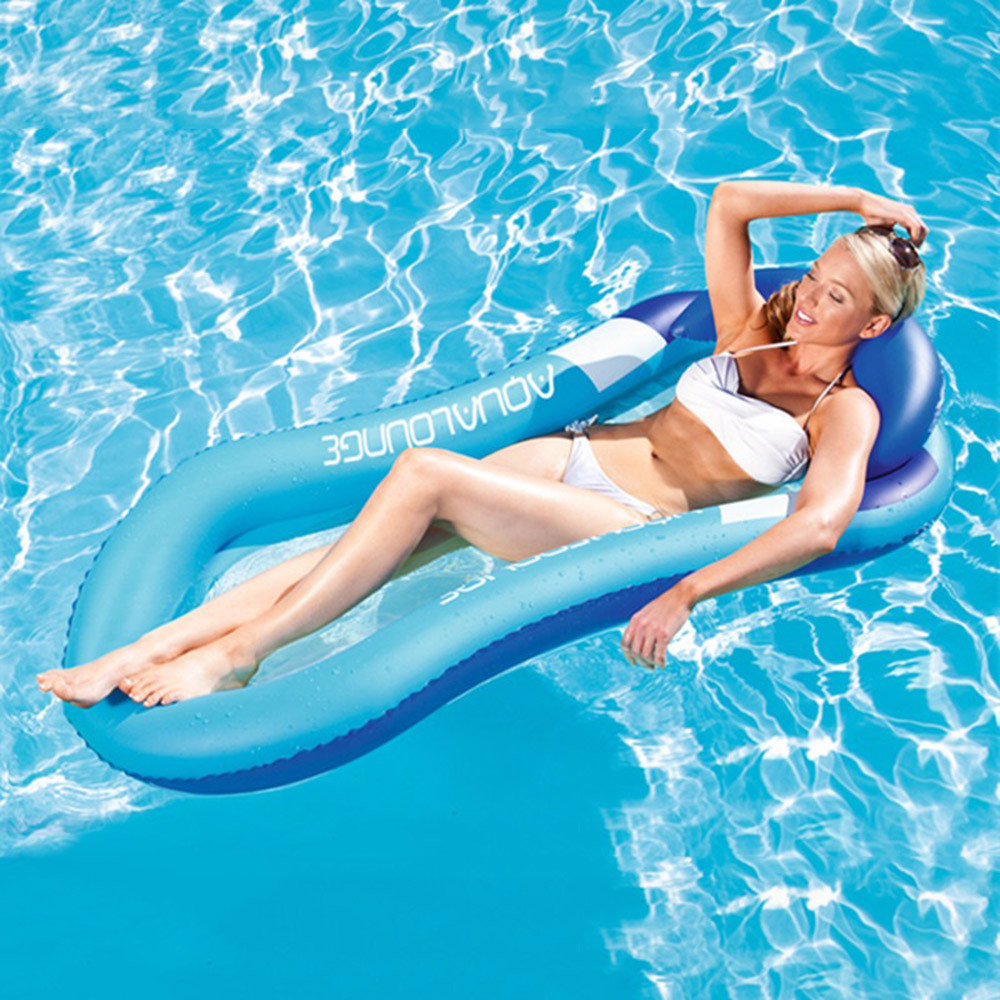 160CM Outdoor Beach Pool Inflatable Swim Lounge Chair Adult Giant Pool Float Interactive Fun Summer Water Holiday Party Toy