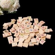 100x de madeira scrabble telhas coloridas letras números para artesanato madeira alfabeto brinquedo navio da gota