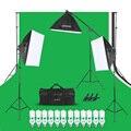 Andoer набор для фотостудии 12 Светодиодный 45 Вт, светильник для фотосъемки, комплект для фотосъемки, аксессуары для камеры и фотографии, 3 свети...
