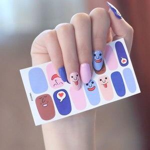 Image 4 - Koreanischen Stil Nail Sticker Nail Wraps Mixed Styles Volle Abdeckung Nagel Vinyls Decals Dekorationen DIY