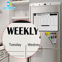 Super Magnetic Whiteboard A3 Weekly Planner Daily Message White Board Fridge Magnet Office Kitchen Refrigerator Drawing Board
