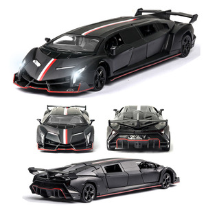 1:32 LamborghiniVeneno Car Model Alloy Car Die Cast Toy Car Model Pull Back Children's Toy Collectibles Free Shipping