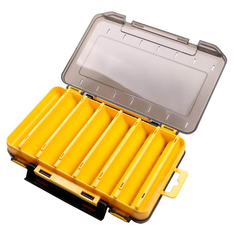 Fishing Lure Box Portable Double Side Artificial Bait Case Organizer Lure Fishing Tackle Fishing Equipment Accessories