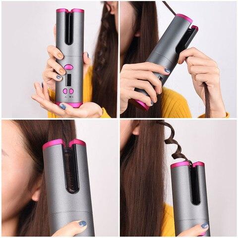 automatico modelador cabelo curling ferro varinha