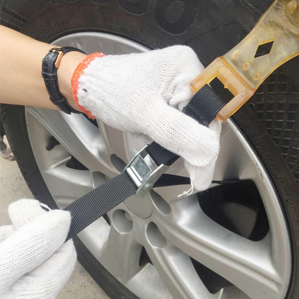 4Pcs Winter Auto Rad Anti-slip Sicherheit Fahren Reifen Reifen Schnee Schlamm Kette Gürtel 2019