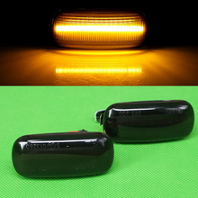 DWCX 2pcs Dynamic Flowing LED Side Marker Sequential Flashing Turn Signal Light Lamp Amber Fit For Audi A4 S4 TT A3 A6 S6 A8