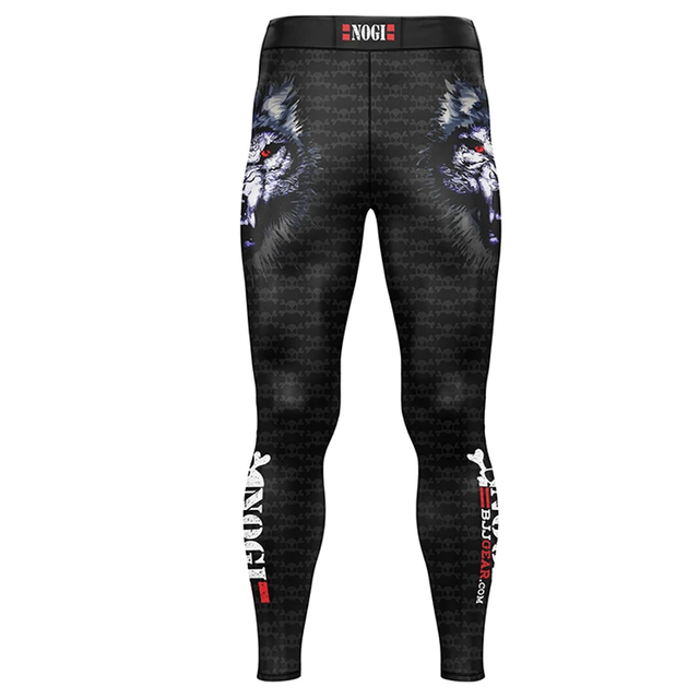 Men Skull Printing Yoga Pants Sportswear Soft Comfortable BJJ MMA Full Length Spats 2