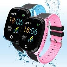 Gps crianças relógio inteligente profissional à prova dbluetooth água bluetooth sos segurança criança esportes presente de aniversário das crianças smartwatch