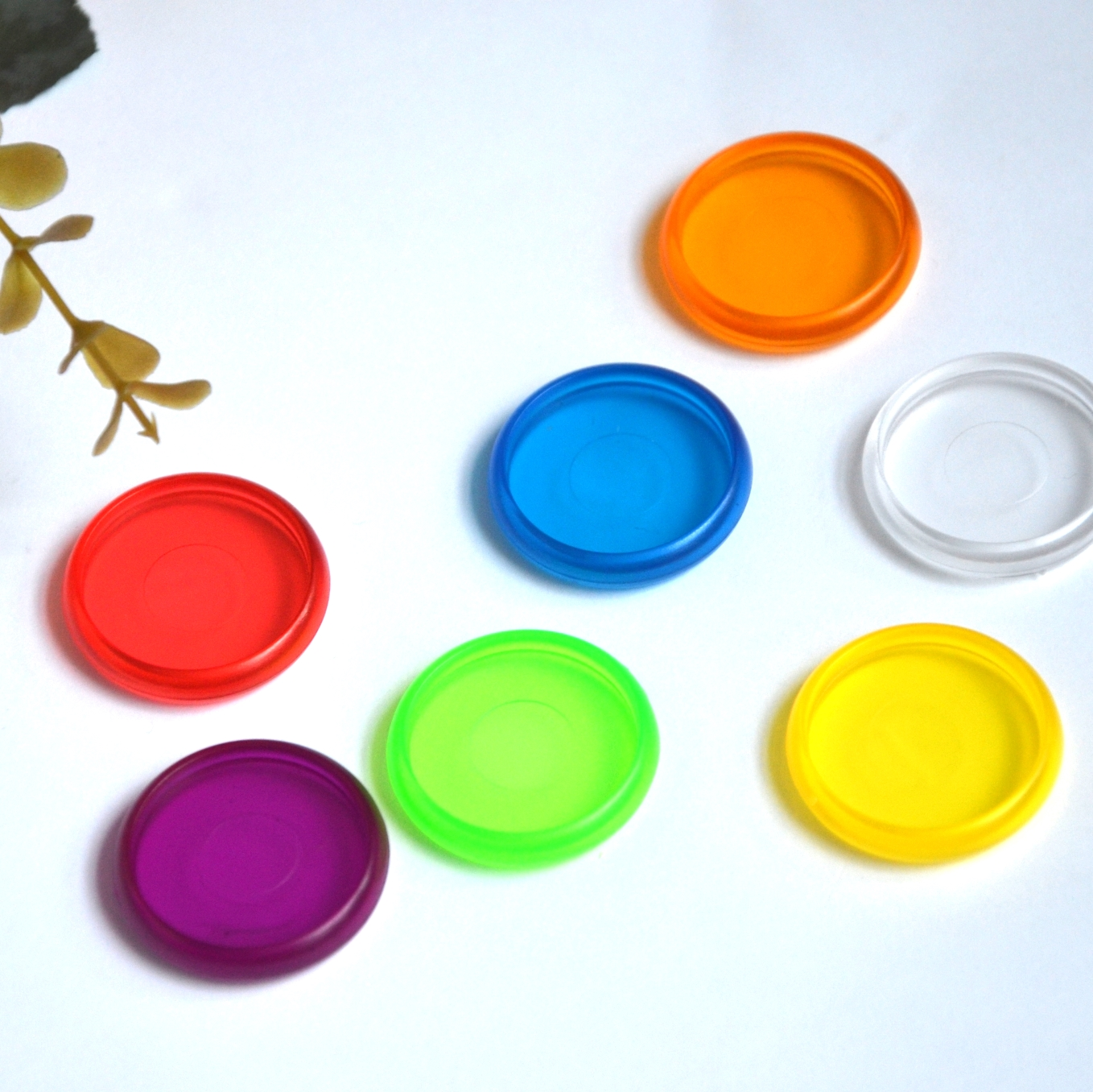12pcs 28mm Notebook Disc Color Mushroom Hole Plastic Ring Discs Removable Loose-leaf Notebook DIY Hand Book Accessories Ring