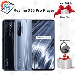 В наличии оригинальный Realme X50 Pro плеер 5G мобильный телефон 6,44 дюйм8G + 128G Snapdragon 865 Android10 SuperDart Flash Charge смартфон