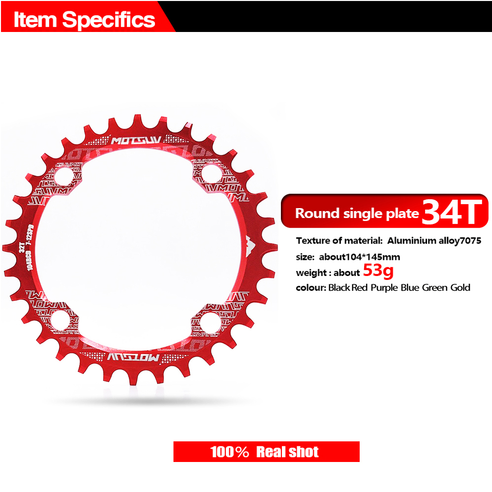 ALI shop ...  ... 32784513884 ... 4 ... Bicycle Crank 104BCD Round Shape Narrow Wide 32T/34T/36T/38T MTB Chainring Bicycle Chainwheel Bike Circle Crankset Single Plate ...