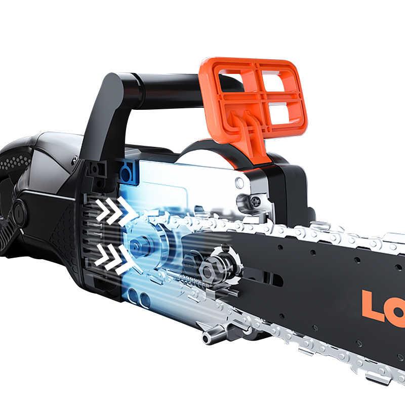 LOMVUMเลื่อยโซ่ไฟฟ้าวงเล็บน้ำมัน-ฟรีเลื่อยโซ่ไฟฟ้าไฟฟ้าเลื่อยไม้ตัดชุดเครื่องมือDIYในครัวเรือน