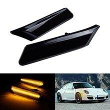 Para Porsche Cayman 911, 987, 997, 2005-2012-LED indicador lateral de señal de vuelta de luz ámbar Luz