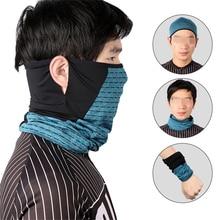 Summer Ice Silk Skin Cool Cycling Half Face Mask Breathable UV400 Protection Sports Headwear Bike Headband Bandana Scraves