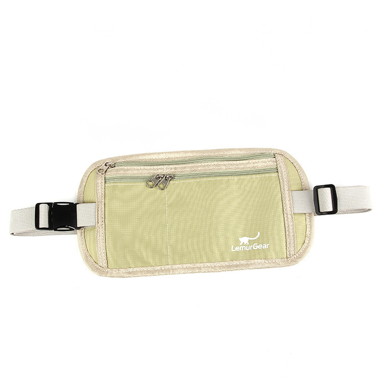 Casual Travel Sports Outdoor Anti-Theft Hidden Body Hugging Travel Fanny Pack RFID Sports Waist Pack For Both Men And Women