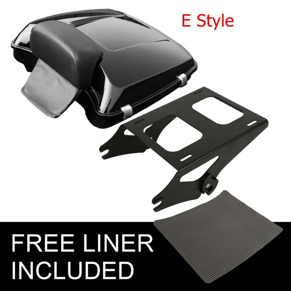 "Image 4 - Motorcycle 5.5"" Razor Pack Trunk Backrest Rack For Harley Tour Pak Touring Electra Glide Road King Street Glide 2014 2019"