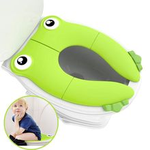 Toilet-Training-Seat Foldable Potty Portable Carry-Bag Travel Toddler with Prevent-Germs-Spread
