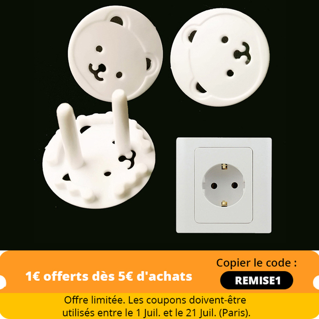 10pcs Baby Safety Child Electric Socket Outlet Plug Protection Security Two Phase Safe Lock Cover Kids Sockets Cover Plugs 1