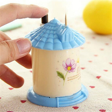 Sweet House Automatic Toothpick Holder Container Household Table Storage Box Dispenser Random Color