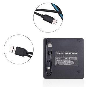 USB 3,0 Внешний Оптический привод Портативный внешний тип-c CD горелка высокая скорость CD/DVD плеер TF/SD кардридер для Windows Linux