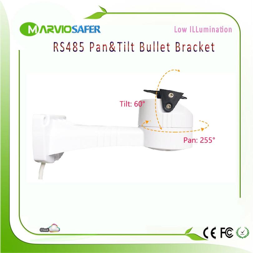 CCTV AHD Network Camera RS485 Pan & Tilt Bullet PTZ Bracket Supporting Pelco-D/P Waterproof Outdoor Usage