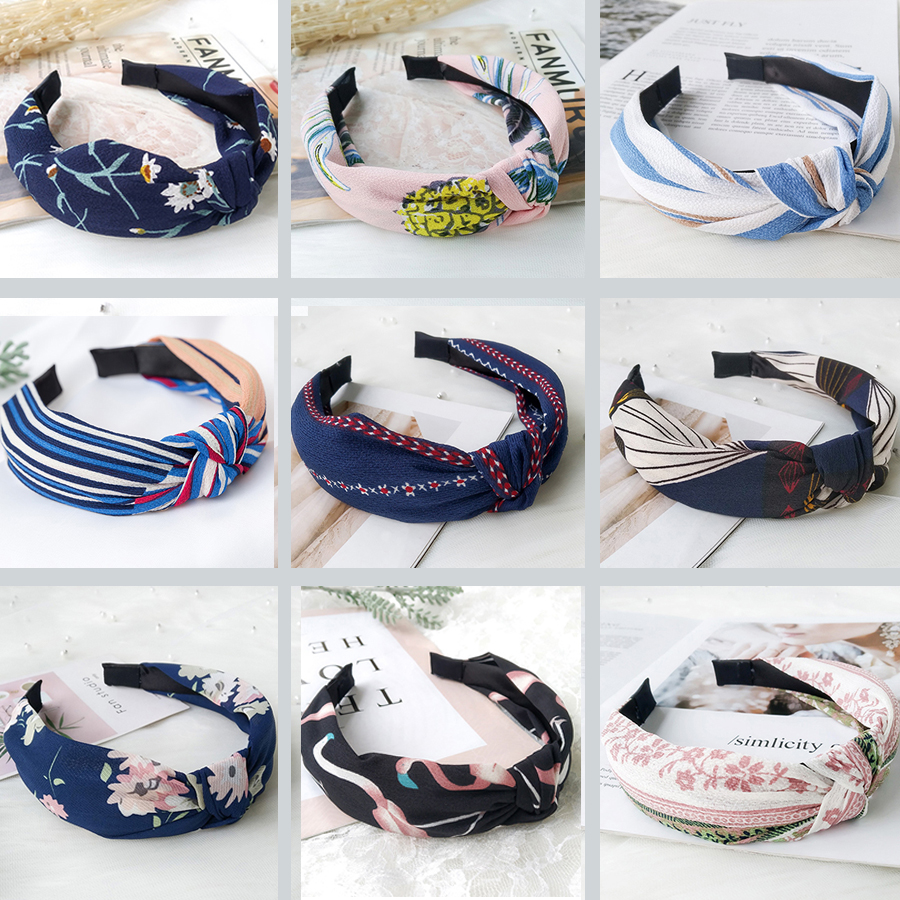 Fashion 2019 Top Knot Turban Headband Flower Hairband Hair Accessories for Girls Knotted Head band Hair Band for Women in Women 39 s Hair Accessories from Apparel Accessories