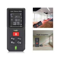 Telémetro láser de 40m/60m/80m/100m, medidor de distancia, Medidor de rango, regla de cinta electrónica, herramienta manual de medición alimentada por batería