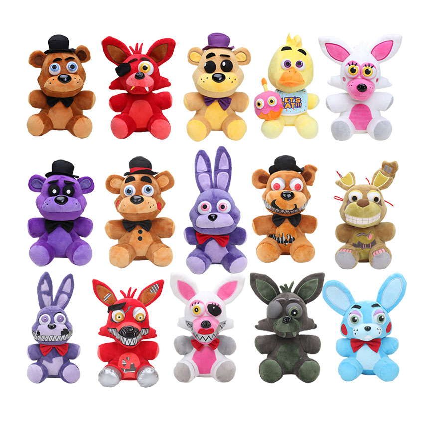 Five Nights At Freddy's Plush Doll Toys Red Foxy Freddy Bear Nightmare Bonnie Chica Foxy  Plush Stuffed Toys For Kids Gifts