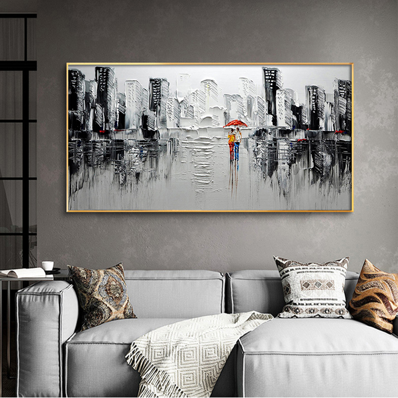 GATYZTORY Frame Abstract Modern City DIY Painting By Numbers Acrylic Paint On Canvas Wall Art Picture For Living Room 60x120cm